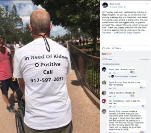 【海外発!Breaking News】腎臓移植が必要なシングルファーザー、ディズニーランドで奇跡をもらう(米)