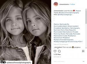 モデルとしても活躍しているリアちゃんとエイヴァちゃん(画像は『Ava Marie & Leah Rose 2017年9月30日付Instagram「Love this one」』のスクリーンショット)