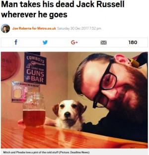 【海外発!Breaking News】亡き愛犬を剥製にして可愛がり続ける飼い主「今でもずっと一緒」(米)