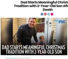【海外発!Breaking News】妻の形見のクリスマスツリーを飾るシングルファーザー「これからも息子と家族行事を作っていく」(米)