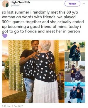 【海外発!Breaking News】ソーシャルゲームを通して仲良くなった22歳男性と86歳女性に友情芽生える(米)