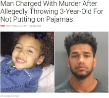 【海外発!Breaking News】「パジャマを着なかったから」と3歳児を暴行死 母親の恋人が逮捕(米)