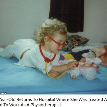 【海外発!Breaking News】子供の頃に治療を受けた病院で、理学療法士として働く22歳女性(英)