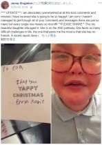 【海外発!Breaking News】9歳の自閉症少女、クラスメートから「大嫌い」と書かれたクリスマスカードに号泣(英)