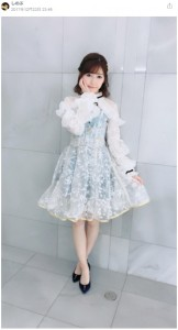 渡辺麻友、最後の『Mステ』で着た衣装(画像は『しのぶ 2017年12月22日付755』のスクリーンショット)