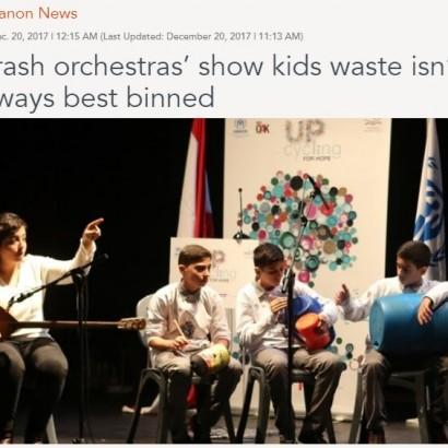 【海外発!Breaking News】ゴミを楽器にして演奏 子供達への環境教育プロジェクトが好評(レバノン)