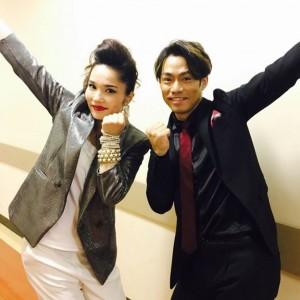 【エンタがビタミン♪】平野ノラ、高橋大輔と「やっP~」 ポーズの美しさがさすが!