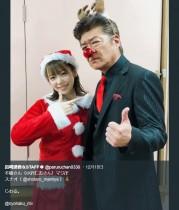 【エンタがビタミン♪】島崎遥香、小沢仁志とクリスマス仮装 『今からあなたを脅迫します』オフショットで「マジ卍」