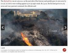 【海外発!Breaking News】大富豪やセレブが暮らすベルエアで豪邸6軒全焼か 現在火災の原因を調査中(米)