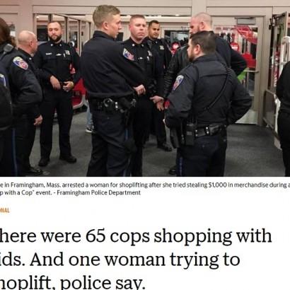 【海外発!Breaking News】65名以上の警察官がいながら…スーパーで30代女が12万円相当の万引き(米)