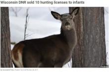 【海外発!Breaking News】米ウィスコンシン州、法改正で乳幼児にまで狩猟免許証を発行