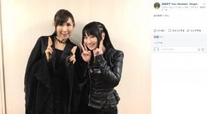 高橋洋子と水樹奈々(画像は『高橋洋子 Yoko Takahashi(Singer) 2017年12月14日付Facebook「高橋洋子です」』のスクリーンショット)