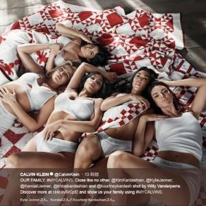 【イタすぎるセレブ達】カーダシアン&ジェンナー5姉妹、カルバン・クラインの広告に登場
