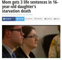 【海外発!Breaking News】16歳養女、38kgの体にオムツをはかされ衰弱死 鬼の養母に3つの終身刑(米)