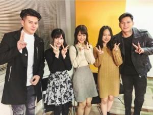 【エンタがビタミン♪】AKB48チーム8 フィリピンのテレビ番組から取材されピースサイン