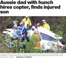 【海外発!Breaking News】ヘリコプターを手配した父の機転が行方不明の息子の命を救う(豪)<動画あり>