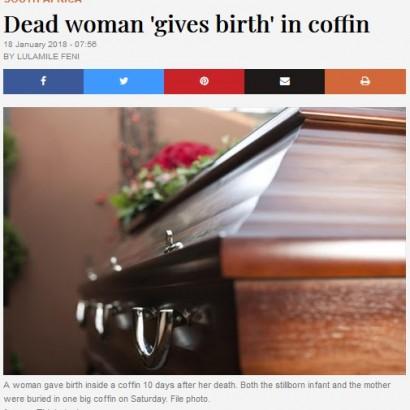 【海外発!Breaking News】死亡後に棺桶の中で33歳女性が出産 葬儀会社スタッフが発見(南ア)