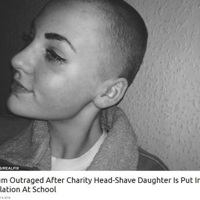 【海外発!Breaking News】寄付のため髪を剃った14歳少女 学校から「校則違反」と言われ教室に入れず(英)