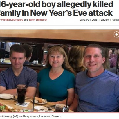 【海外発!Breaking News】大晦日の悲劇 自閉症16歳少年が家族とその友人を射殺(米)