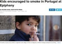 【海外発!Breaking News】キリスト教の伝統的祝祭行事 親が子供に喫煙させる村(ポルトガル)