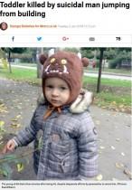 【海外発!Breaking News】1歳9か月男児、アパート8階から飛び降りた男の下敷きになり死亡(ウクライナ)