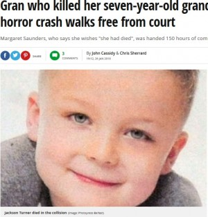 【海外発!Breaking News】不注意運転で後部座席の7歳孫が事故死 祖母「私が死ねばよかった」(北アイルランド)