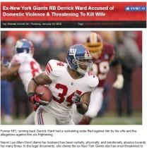 【海外発!Breaking News】NFL元スター選手が家庭内で大暴れ 繰り返されるDVを妻が暴露(米)