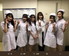 【エンタがビタミン♪】HKT48がナース姿、Team8はメイド風に 『AKB48グループ成人式コンサート』オフショット