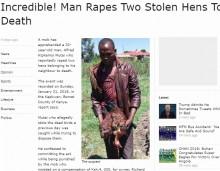 【海外発!Breaking News】隣家のニワトリを盗み強姦して死なせる 33歳男を逮捕(ケニア)