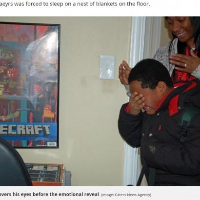 【海外発!Breaking News】ホームレスだった8歳少年、自分の部屋を与えられ感涙(米)<動画あり>