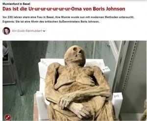 【海外発!Breaking News】教会から発見されたミイラ、英外務大臣の先祖だった(スイス)