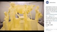 【海外発!Breaking News】米ペンシルベニアの名産物バター450kgで見事な彫刻 展示後はどうなる…!?