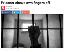 【海外発!Breaking News】受刑者が刑務所の病院を訴える 激痛のあまり指を食いちぎるも「鎮痛剤はダメ」(米)
