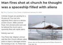 【海外発!Breaking News】ドーム型屋根の大型教会に男が発砲 「エイリアンを乗せたUFOかと思った」(米)