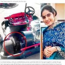 【海外発!Breaking News】ゴーカートの車輪が長い髪を巻き込む 頭皮を引き裂かれ女性死亡(印)