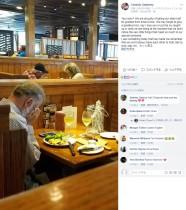 【海外発!Breaking News】バレンタインデーに二人分用意されたテーブルで涙を拭い一人食事する男性(米)