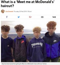 【海外発!Breaking News】「マクドナルドで会おう」という名のヘアカット 校則で禁止に(英)
