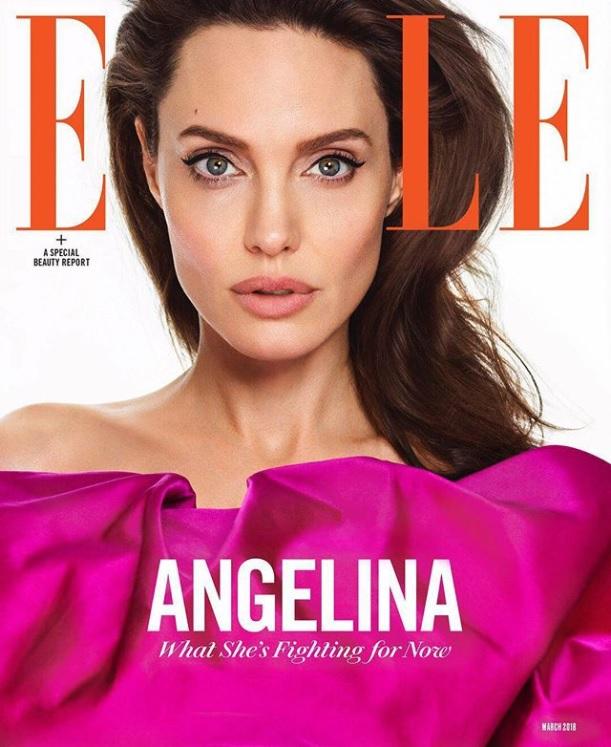 「尽くす人生に価値がある」(画像は『Elle Magazine 2018年2月8日付Instagram「Angelina Jolie does not have a project to promote.」(Photo by @MarianoVivanco)』のスクリーンショット)