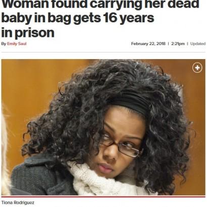【海外発!Breaking News】万引きで発覚 我が子の遺体をバッグに入れていた母親に16年の懲役刑(米)