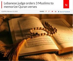 【海外発!Breaking News】キリスト教を侮蔑したイスラム教徒の少年達 裁判長「コーランの聖母マリアに関する章の暗記」命じる(レバノン)