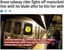 【海外発!Breaking News】公然わいせつの男に立ち向った女性、凶器にもひるまず NYの地下鉄で流血事件
