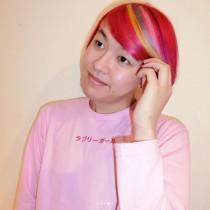 【エンタがビタミン♪】ぺえ、前髪をレインボーカラーに 「まさにラブリーガール」「志茂田景樹さんみたい」の声