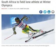 【海外発!Breaking News】南アフリカでただ一人 平昌オリンピック出場の選手に注目