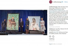 【イタすぎるセレブ達】オバマ前大統領夫妻の肖像画、国立肖像画美術館に初お披露目