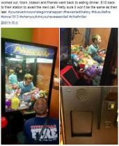 【海外発!Breaking News】クレーンゲーム機に入り込んでしまった男児、消防署員が救出(米)