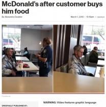 【海外発!Breaking News】マクドナルドでホームレスに食事を奢った男性、2人とも店から追い出される(米)