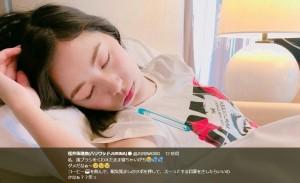 """【エンタがビタミン♪】松井珠理奈 """"歯ブラシをくわえて寝落ち""""に心配の声「アイドルなんだから要注意」"""