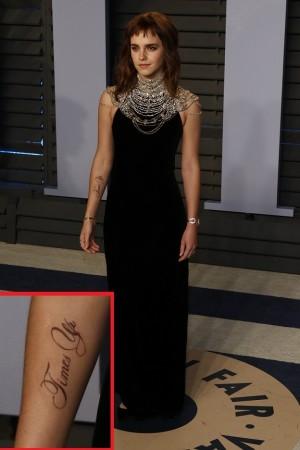【イタすぎるセレブ達】エマ・ワトソンの右腕に意味深なタトゥー セクハラ抗議の一環か