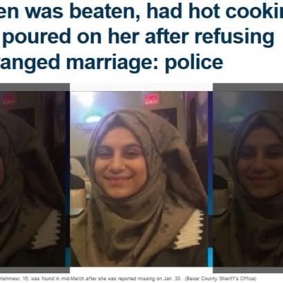 【海外発!Breaking News】見合い結婚を拒んだ16歳娘に両親、熱した油を注ぐなど虐待行為に(米)