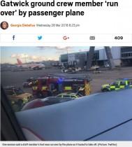 【海外発!Breaking News】空港の地上勤務スタッフ、離陸直前の旅客機に轢かれる(英)